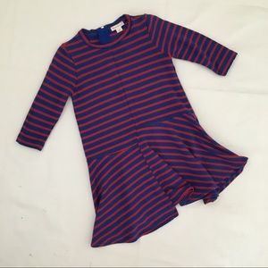 Crewcuts Striped Dress with Asymmetric Hem
